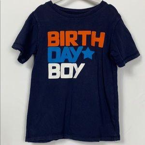 Carters navy blue boys Birthday tee shirt 5T